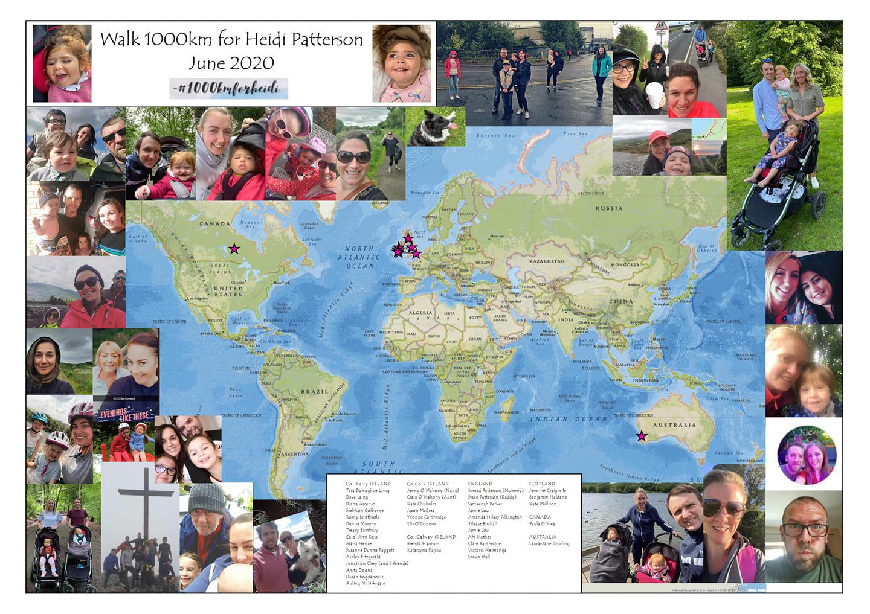 1000km walk for Heidi